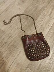 Campomaggi Small Brown Leather Bag With Chain Straps Boho
