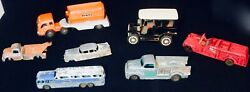 Antique Toy Trucks And Cars Lot Of 7