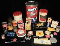 Antique Advertising Tins Lot Of 33