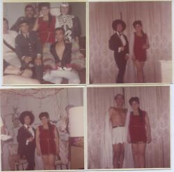 24 Vintage Photos. 1964-65 Colorful Hollywood Halloween Costume Partys. Gay.