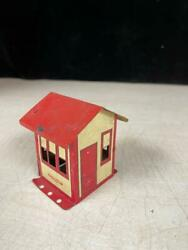Gilbert Erector Metal Tin Red House/shed Toy Set Piece Building Part - Vintage