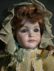 Lovely Bisque Head Reproduction Antique K Star R Doll 17quot; Carol Boyd 1977