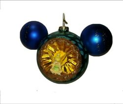 Disney Tinker Bell/peter Pan Mickey Mouse Icon Glass Ornament 2021