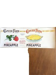 Clover Farm Hawaiian Crushed Pineapple 14oz Can Label Cleveland Oh