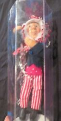 Byers Choice Kindle Creations Poseable Doll Christmas Ornament 7 Uncle Sam
