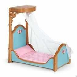 New In Box American Girl Doll Cecile And Marie Grace's Canopy Bed And Bedding