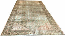 Antique Gallery Size Distressed /worn Out Genuine Malayer Rug