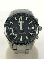Seiko Astron Sbxb085 Date 8x22-0ag0-2 Gps Solar Mens Watch Authentic Working