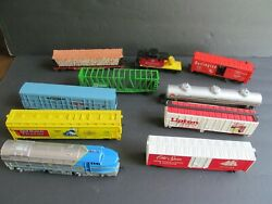 Vintage Tyco Plastic Train Cars For Tracks Lot Of 10 Railroad Lipton Old Spice