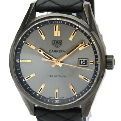 Tag Heuer Carrera Stainless Steel Leather Quartz Mid Size Watch War1113 Bf531810