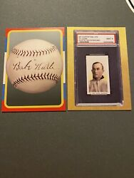 Ty Cobb And Babe Ruth 2021 National Convention Heritage Auctions Promo Cards.
