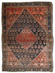 Handmade Antique Oriental Rug 3.10and039 X 5.4and039 121cm X 164cm 1900s - 1b830