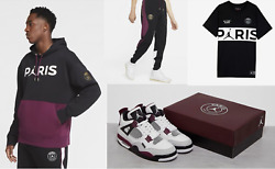 Air Jordan Retro 4 Psg Bordeaux New Size 8.5 And Apparel Package Sold Out