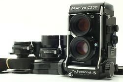 【top Mint+++ W/ 3lens】 Mamiya C330 Pro S Body Sekor S 80mm 55mm 135mm From Japan