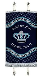 New Mantle Costume Made Sefer Torah Cover Jewish Art Made Judaica Crown