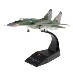 172 Scale Mig-29 Alloy Military Model Plane W/ Dispaly Stand Ornaments