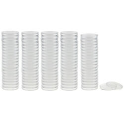 100pcs Transparent Round Coin Display Capsules Box Protector Collector 30mm