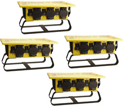 Coleman Cable 019703r02 50a Portable Gcfi Power Distribution Spider Box, 4-pack