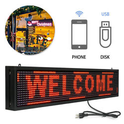 Red Display Hanging Board 40 X 8 Indoor Led Business Sign Scrolling Message