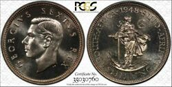 South Africa, 1948 George Vi Shilling. Pcgs Pf 66. 1,120 Mintage.