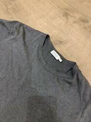 Sunspel Menand039s Classic Cotton T-shirt In Charcoal Melange Size M