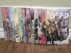 The Walking Dead 115-126 All Out War Run 1st Prints Image Comics Nm+