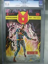 Miracleman 1 Gold Edition Cgc 9.6 Eclipse 1985 Signed Alan Moore Coa /400