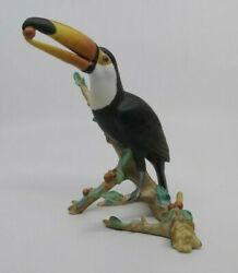 Signed Herend 15858-0-00 Limited Edition Toucan Sculpture Porcelain Figurine
