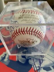 2013 Boston Red Sox World Series Champs Team Signed W.s. Baseball Rare Hot