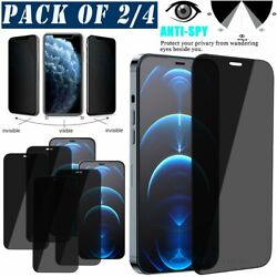 For Iphone 12 11 Pro Xs Max Xr 8 7 6 Se Privacy Tempered Glass Screen Protector