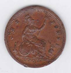 1902 Tiny 12.5mm Lauer Germany Toy Sample Miniature Uk One Penny Sample Victoria
