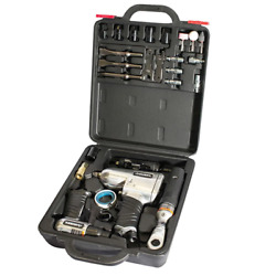 Husky Hdk1008 Air Tool Kit 27-piece With Aluminum Case Included In Black