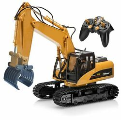 Top Race 15 Channel Remote Control Rc Fork Excavator, Construction Grapple Fo...