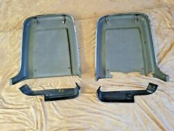 1967 Shelby Mustang Deluxe Seat Backs And Side Shields Stainless Trim Set 67