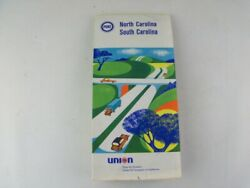 Vintage 1968 North South Carolina Road Map From Pure Union 76 Gas Oil Company