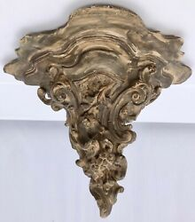 French Wall Sconce in Terra Cotta with Floral and Scroll Design Mid 1900s