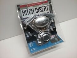 Hd Motorcycle Style V-twin 2 Trailerhitch Reciever Insert