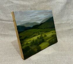 Oil Landscape Painting 8x10 Patches Of Ireland Sunlight Original Signed