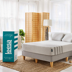 Leesa Hybrid 11 Mattress Memory Foam Bed-in-a-box Queen Size White And Gray