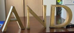 1985 Vintage 16 Metal Letters From The Chicago Hilton And Towers Sign