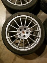 Porsche Cayenne 21 Sport Plus Wheels Complete With Tires Caps And Tpms