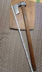 83 Cm Japanese Woodworking Carpentry Tools Iron Axes Hatchets Ono Antique Used
