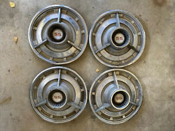 Vintage Chevy Ss Spinner Hubcap Oem 14 Spinner Wheel Covers Set Of 4