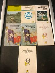 Lot Of 7 Vintage Madisonville Texas Telephone Books Yellow Pages 1966 -1972