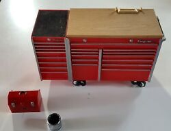 1/8 Scale Toy Snap-on Diecast Tool Box Bank Garage With All Accessories Rare