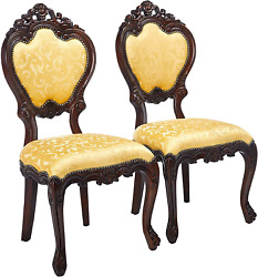 Design Toscano Lady Ambrose Shield Back Chair Set Of Two Cherry