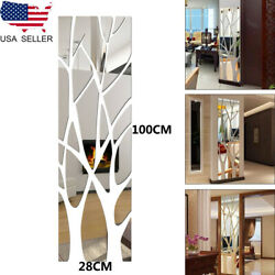 3D Mirror Tree Wall Sticker Acrylic Mural Decal Reflectable Wallpaper Home Decor