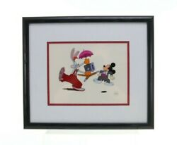 Mickey's 60th Birthday Special Animation Cel W/ Mickey Mouse And Roger Rabbit W/c