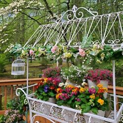 Large Flower Cart With Roof And Moving Wheels