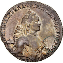 [970359] Coin Russia Catherine Ii Rouble 1764 Saint-petersburg Ef Silver